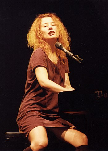 Tori Amos performing in concert during her Dew...