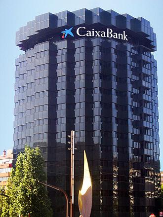 CaixaBank - CaixaBank Tower in Avinguda Diagonal, Barcelona.