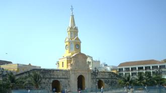 Timeline of Cartagena, Colombia - Torre del Reloj (clock tower).