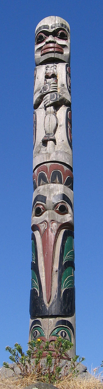 Totem - A totem pole in Thunderbird Park, Victoria, British Columbia