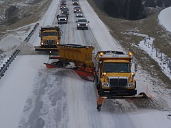 snowploughing trucks