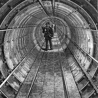 Tower Subway - The Tower Subway in 1870