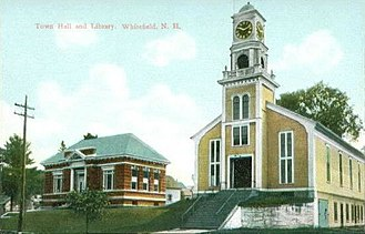 Whitefield, New Hampshire - Image: Town Hall and Library, Whitefield, NH