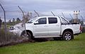 Toyota Hilux into the fence - Flickr - Highway Patrol Images.jpg