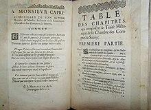 Ouvrage intitulé Traité historique de la Chambre de comptes de Savoie en 1662