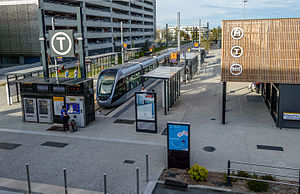 Toulouse–Blagnac Airport - Tram connection to the airport.