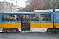 Tram in Sofia near Russian monument 080.jpg