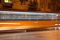 Tram in Sofia near Russian monument 091.jpg
