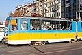 Tram in Sofia near Sofia statue 2012 PD 046.jpg