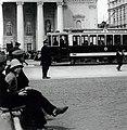 Tram stop on Theatre Square 1912.jpg