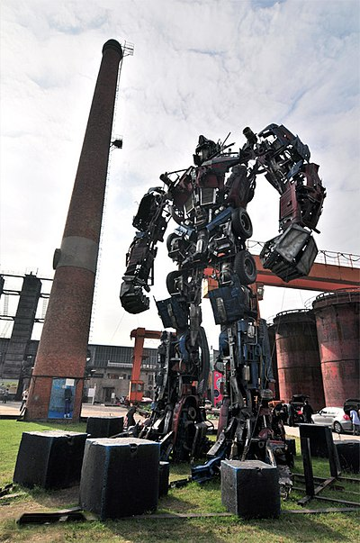 A Transformers: Dark of the Moon character in Beijing