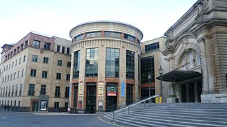 Traverse Theatre - Cambridge Street, with the Usher Hall on the right