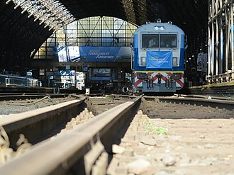 General Bartolomé Mitre Railway - A CNR CKD8 Ferrocarriles Argentinos train bound for Rosario.
