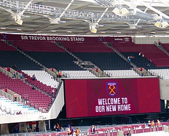 Trevor Brooking - The Sir Trevor Brooking Stand at the London Stadium