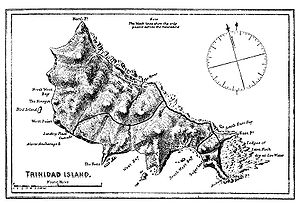 Principality of Trinidad - Map of Trinidad from the book, The Cruise of the Alerte