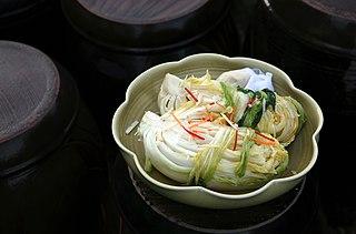 Baek-kimchi Kimchi made without the chili pepper powder