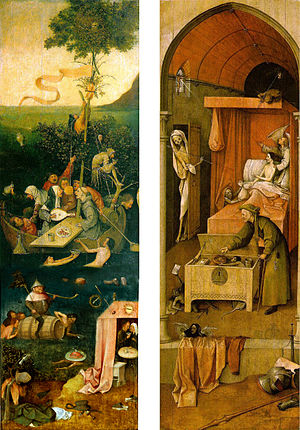 Ship of Fools (painting) - Reconstruction of the triptych.