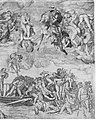 Trumpeting Angels and Damned Souls Being Pulled Down by Devils (lower center and right section of the Last Judgment) MET MM55706.jpg