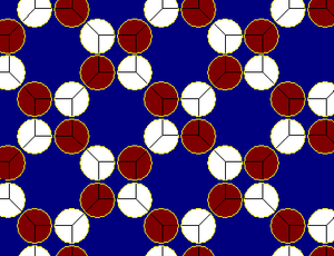 Truncated square tiling - Image: Truncated square tiling circle packing 2