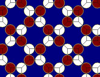Truncated square tiling - Image: Truncated square tiling circle packing 2
