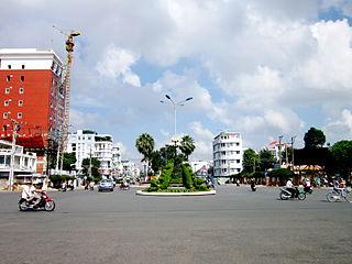 Long Xuyên City in An Giang, Vietnam