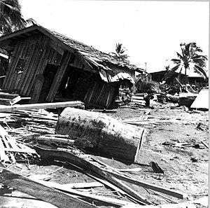 1976 Moro Gulf earthquake - Tsunami damage at Lebak, Mindanao