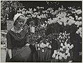 Tulpennkoningin Leni Quant heeft in het Krelagehuis de bloemententoonstelling Winterflora geopend. NL-HlmNHA 54010522.JPG