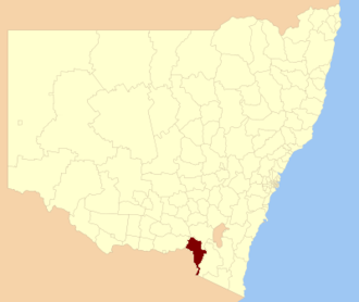 Tumbarumba Shire - Location in New South Wales