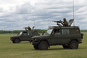 Two Canadian Forces G-Wagons