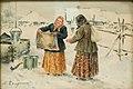 Two women in a snowy village.jpg