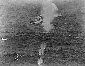 German submarine U-849 - U-849 under attack by a US Liberator on 25 November 1943.