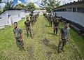 U.S. Marines assigned to a landing attack subsequent operations team conduct a combat conditioning exchange with Guatemalan marines as part of U.S. Marine Corps Martial Arts Program training during Southern 140819-N-XQ474-043.jpg