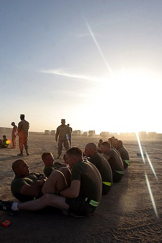 United States Marine Corps Physical Fitness Test - 100 crunches are required for a perfect score of 100 points for this event.
