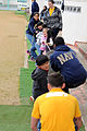 U.S. Sailors assigned to Naval Mobile Construction Battalion 1 and Commander, Fleet Activities Okinawa participate in an English through play community relations event at the Busy Bee International School 140307-N-EP471-252.jpg