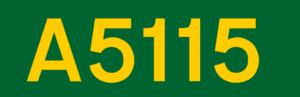 A51 road - Image: UK road A5115
