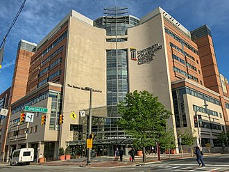 University of Maryland School of Medicine - The University of Maryland Medical Center, the on-campus teaching hospital of the School of Medicine, and site of many of its clinical departments.