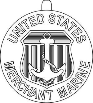 Merchant Marine Atlantic War Zone Medal - Image: USA Merchant Marine service medals common reverse