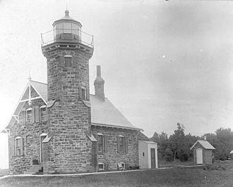 Sand Island Light (Wisconsin) - USCG archive photo