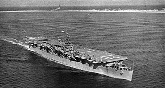 USS Cabot (CVL-28) - Cabot as a training carrier in 1949.