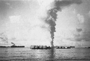 USS Mississinewa (AO-59) - USS Mississinewa (AO-59) sinking.