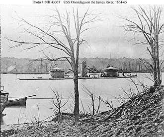 USS Onondaga (1863) - Onondaga on the James River