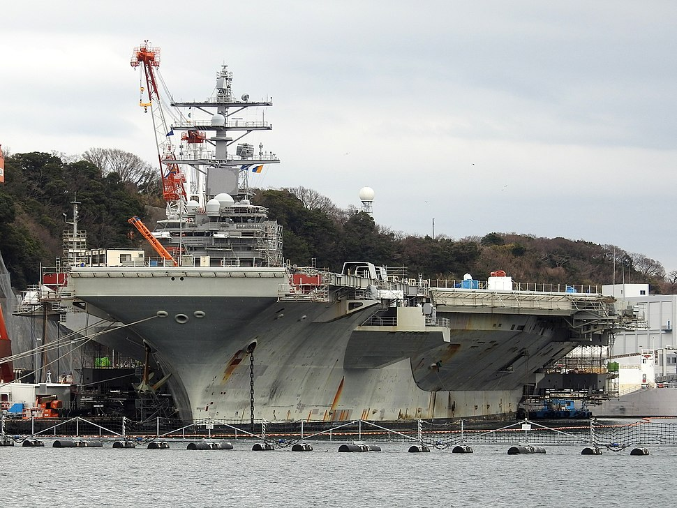 USS Ronald Reagan in port at Yokosuka