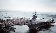 USS Saratoga (CV-60) returns from Desert Storm