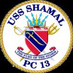 USS Shamal PC-13 Crest.png
