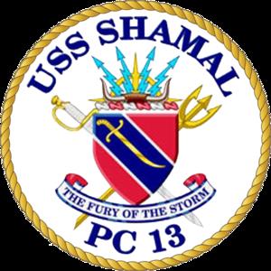 USS Shamal - Image: USS Shamal PC 13 Crest