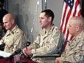 US Navy 030402-D-0000B-002 U.S. Marines 1st Sgt. Bruce Cole, 1st Lt. James Uwins and Gunnery Sgt. Bill Hale.jpg