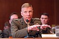 US Navy 040310-N-2568S-055 Gen. Michael W. Hagee, Commandant of the Marine Corps, gives testimony to members of the Senate Appropriations Committee concerning the Fiscal Year 2005 National Defense Authorization Budget Request f.jpg