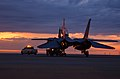 US Navy 040813-F-0017M-001 A decommissioned F-14A Tomcat last assigned to the Checkmates of Fighter Squadron Two One One (VF-211), is towed off the flight line during transportation from San Angelo Regional Airport to Goodfello.jpg