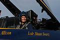 US Navy 051101-N-5328N-004 FOX News anchor, Greta Van Susteren smiles following her flight in an F-A-18B Hornet assigned to the U.S. Navy Flight Demonstration squadron.jpg
