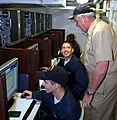 US Navy 060821-N-0191T-059 Sailors aboard the amphibious transport dock USS San Antonio (LPD 17) received a special visit from Commander, Amphibious Group Two, Rear Adm. Garry Hall.jpg